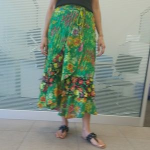 Beautiful wrap around skirt one size fits all